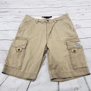 Nautica Cargo Shorts Size 30 Men Beige 100% Cotton